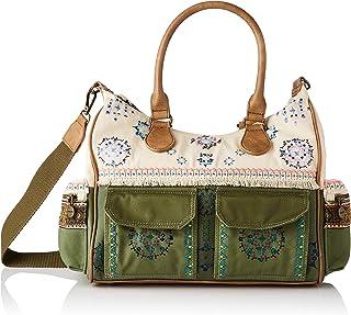Desigual Womens Fabric Shoulder Bag, Green, U