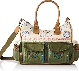 Desigual Womens Fabric SHOULDER BAG Green U