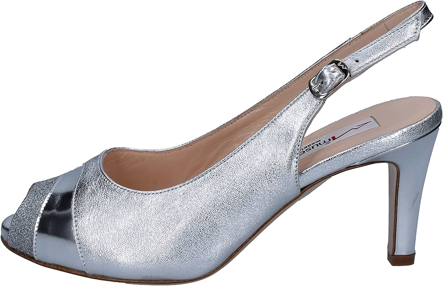 MUSELLA Sandals Womens Leather Silver