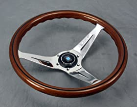 Nardi Steering Wheel - Deep Corn - 350mm (13.78 inches) - Mahogany Wood with Polished Spokes - Type A Horn Button - Part #...