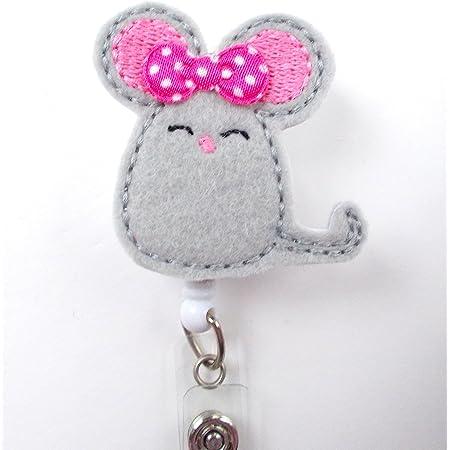 Mouse Macaroon Badge Reel Interchangeable Feltie Macaroon Planner Clip Nurse Badge Reel Interchangeable Badge Reel