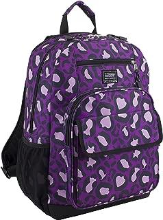 Eastsport Tech Backpack, Purple Leopard Print