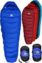 Best Hyke & Byke Snowmass 0 Degree F 650 Fill Power Hydrophobic Down Sleeping Bag with ClusterLoft Base - Ultra Lightweight 4 Season Men's and Women's Mummy Bag Designed for Cold Weather Backpacking Review