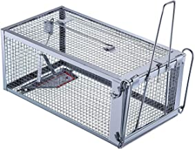 Trap Top Live Chipmunk Trap, Excellent Chipmunks Rats & Mice Humane Cage Trap, Just Catch and Release (Medium)