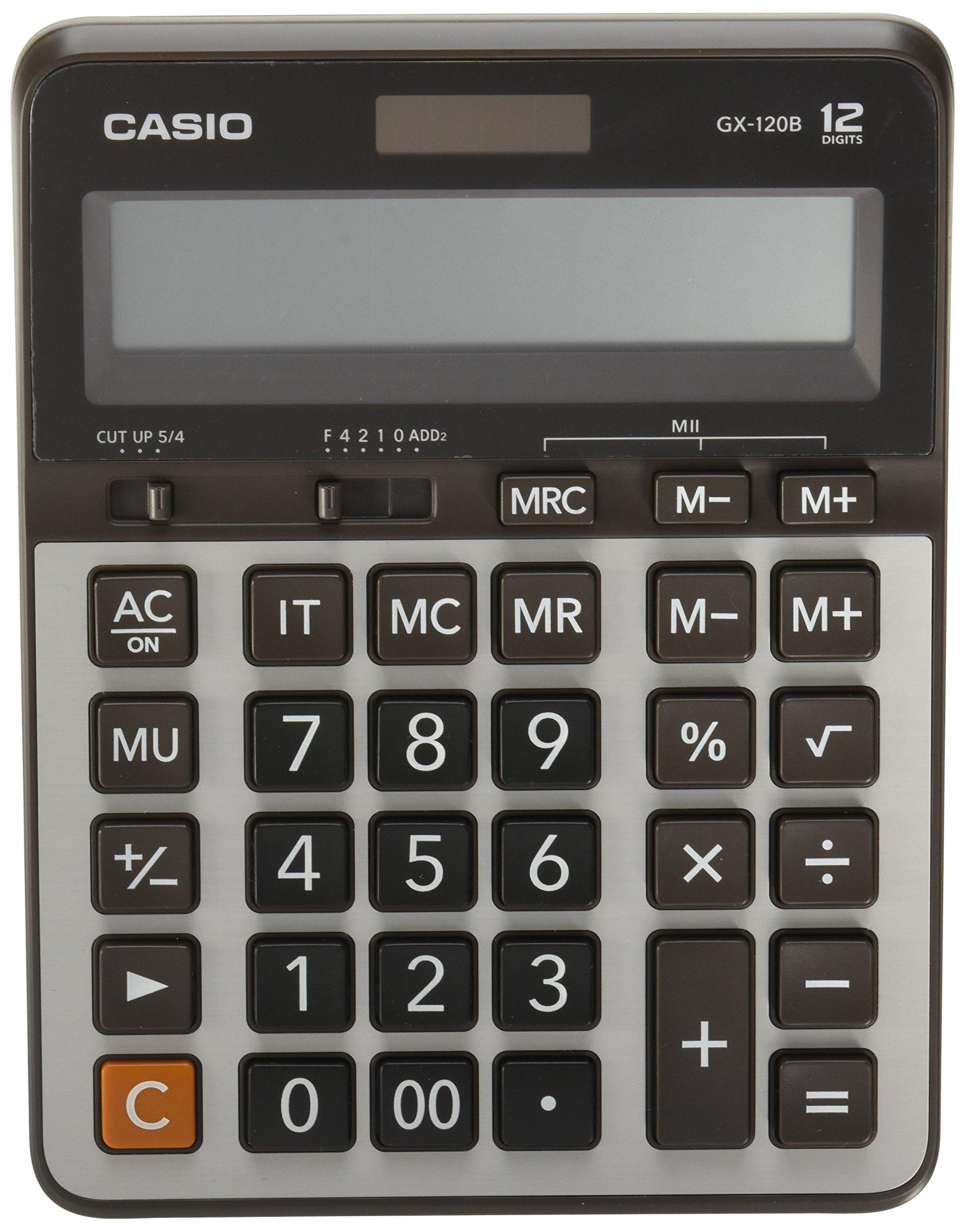 Casio GX 120B Electronic Calculator 12 digit