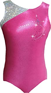 Look-It Activewear Girls Pink Sparkle Razzle Dazzle Leotard for Gymnastics or Dance