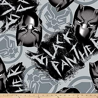 black panther fleece fabric