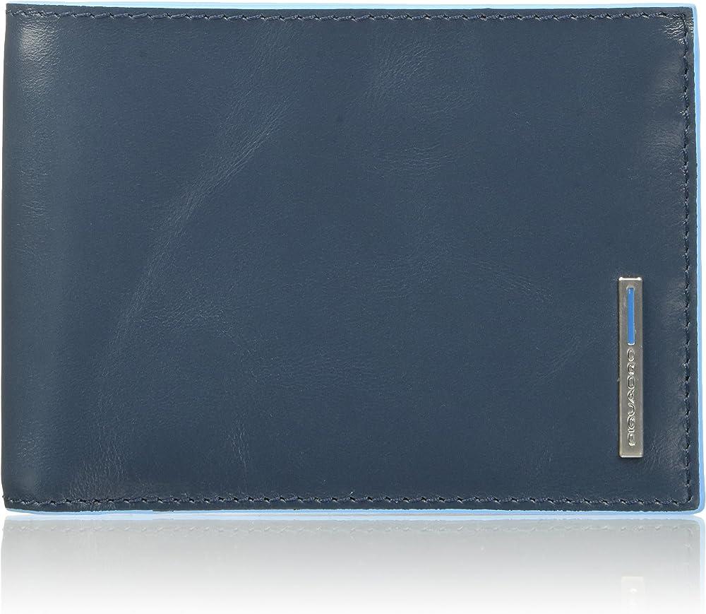 Piquadro, portafoglio, collezione blu square, in vera pelle PU257B2/AV3
