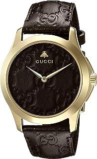 Gucci - Reloj Análogo clásico para Unisex de Cuarzo con Correa en Cuero YA1264035