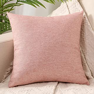 """ZebraSmile Decorative Throw Pillow Covers Soft Touch Small Cushion Covers for Sofa Couch Bedroom Car Rest 16""""X 16"""" Pink Jade"""