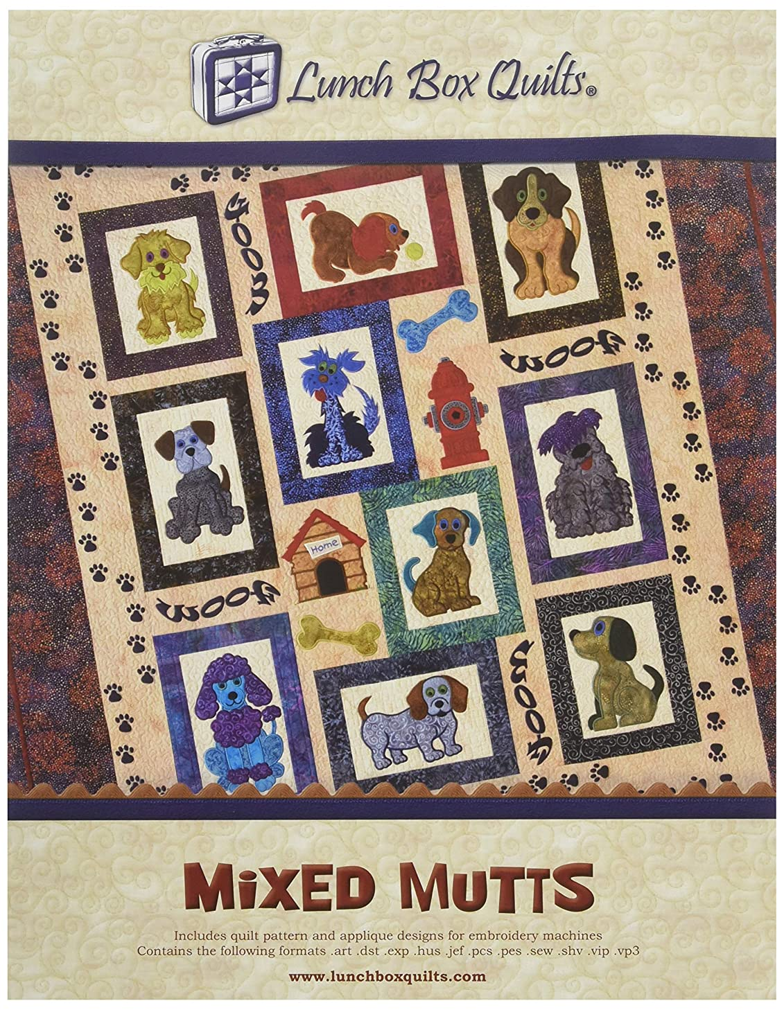 Lunch Box Quilts Mixed Mutts Pattern