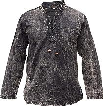 Gheri - Camisa de algodón de cáñamo con cuello en V para hombre