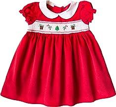 Good Lad Toddler Girls Red Corduroy Christmas Motif Smocked Dress