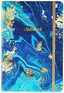 Fodrad anteckningsbok/journal – inbunden linjerad anteckningsbok med premium tjockt papper, collegebok A5 linjerad, perfek...