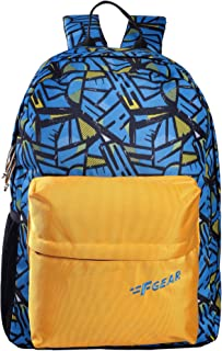F Gear Emprise Wordly Blue, Yellow 23 Ltrs Casual Backpack (3366)