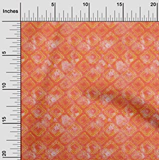 oneOone Velvet Peach Fabric Batik Fabric for Sewing Printed Craft Fabric by The Meter 58 Inch Wide