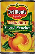 Del Monte Natural Sliced Yellow Cling Peaches, 15-Ounce Packages (Pack of 12)