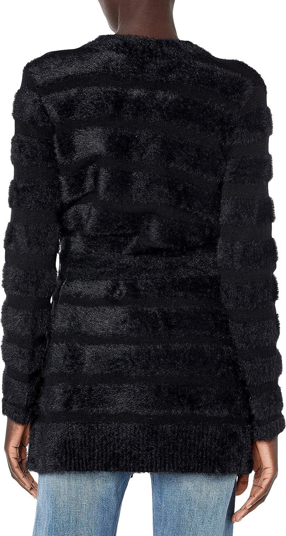 MILLY Women's Fuzzy Stripe Knit Cardigan