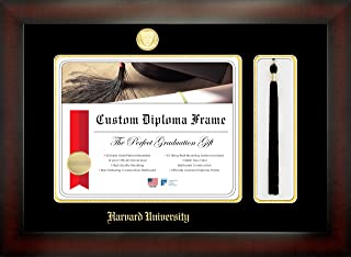 Celebration Frames Harvard University 11 x 14 Mahogany Finish Infinity Diploma Frame with Tassel Box
