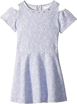 Us Angels - Cold Shoulder Textured Knit Drop Waist (Toddler/Little Kids)