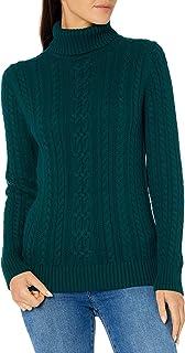 Amazon Essentials Women's Fisherman Cable Turtleneck Sweater