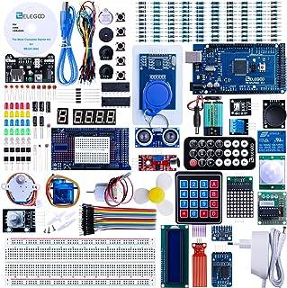 ELEGOO Conjunto Mas Completo y Avanzado de Iniciación Compatible con Arduino IDE Mega 2560 con Guías Tutorial en Español y Conjunto con Placa Controladora Mega 2560 R3 Servomotor Motor Paso a Paso