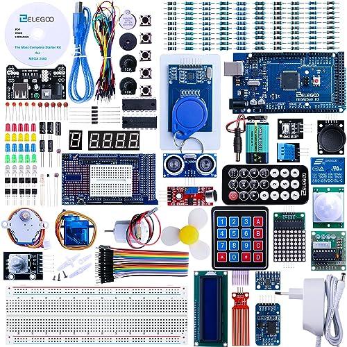 ELEGOO Mega 2560 R3 Kit de Démarrage Ultime Le Plus Complet avec Manuel d'Utilisation Français pour Débutants et Professionnels DIY