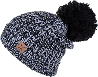 C.C Exclusives Thick Slouchy Soft Large Pom Beanie Hat (HAT-123A)