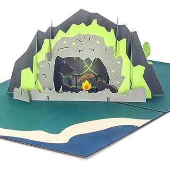 Ribbli Bear Handmade 3D Pop Up Card,Greeting Card,Thank You Card,Animal Card,Picnic Card,Camping Card,For Birthday Card,Father Card,Mother Card,Any Occasion
