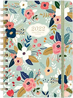 """2022 Planner - 2022 Weekly & Monthly Planner with Tabs, 6.3"""" x 8.4"""", Jan. 2022 - Dec. 2022, Hardcover with Back Pocket + T..."""
