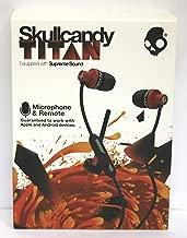 Skullcandy Titan with Mic Earphones/Earbuds Stereo Headphone - Red/Black