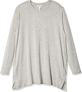 Daily Ritual Amazon Brand Women's Plus Size Long-Sleeve Split-Hem Tunic