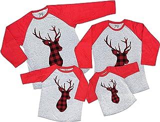 7 ate 9 Apparel Matching Family Christmas Shirts - Plaid Deer Red Shirt