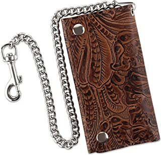 custom leather chain wallet