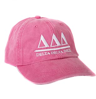 Delta Delta Delta (B) Sorority Embroidered Baseball Hat Cap Cursive Name Font Tri Delta