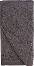 Everplush Flat Loop Quick-Dry Hand Towel Set, 4 Pack, Charcoal (Dark Gray)