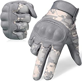 WTACTFUL Mens Motorcycle Gloves for Motorbike Cycling Riding Hunting Hiking Bike Bicycle Operator Climbing Camping Work Touch Screen Full Finger Gloves Size Camouflage ACU Size X-Large B16