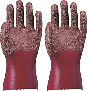 ATOM 裏生地付手袋 天然ゴム作業手袋 Mサイズ 1211 ブラウン