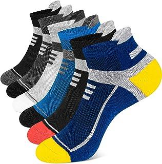 Onmaita Running Socks for Men Women, 6 Pairs Cushioned Trainer Socks Athletic Ankle Socks, Low Cut Anti-Blister Breathable...