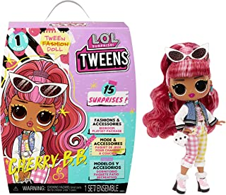 LOL 서프라이즈 인형 LOL Surprise Tweens Fashion Doll Cherry BB with 15 Surprises