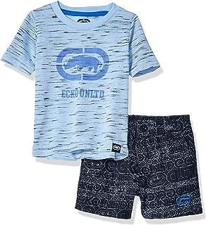 Baby Boys Sleeve Rhino T-Shirt and Logo Short