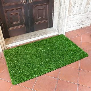 MAYSHINE Artificial Grass Door Mat Indoor/Outdoor Rug Green Turf Perfect for Multi-Purpose Home Entryway Scraper Doormat D...