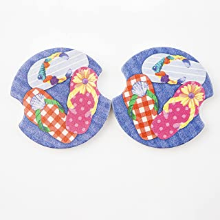 Thirstystone Flip Flops Car Cup Holder Coaster, 2-Pack