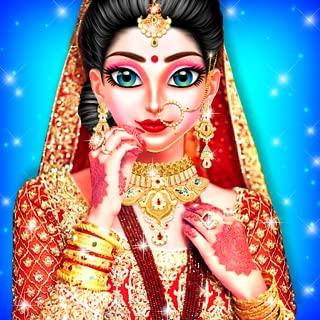Royal North Indian Wedding Girl Dressup and Makeup