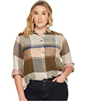 Lucky Brand - Plus Size Plaid Multi Top