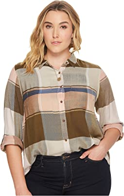 Lucky Brand Plus Size Plaid Multi Top