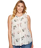 Lucky Brand - Plus Size Floral Silk Tank Top