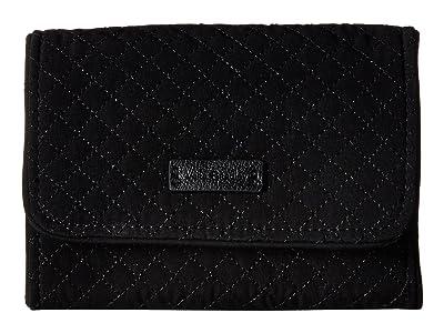 Vera Bradley Rfid Riley Compact Wallet (Classic Black) Wallet Handbags