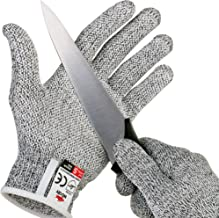 NoCry Cut Resistant Gloves with Grip Dots – High Performance Level 5 Protection,..