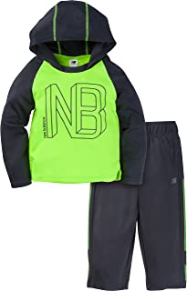 New Balance Baby Boys Long Sleeve Hooded Top and Pant Set